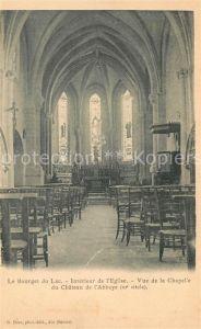 Le_Bourget du Lac_Savoie Interieur de l'Eglise Vue de la Chapelle du Chateau de l Abbaye Le_Bourget du Lac_Savoie