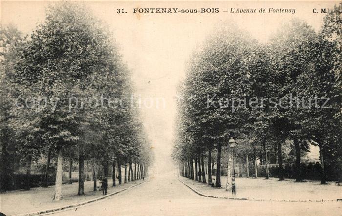 Fontenay sous Bois Avenue de Fontenay Fontenay sous Bois