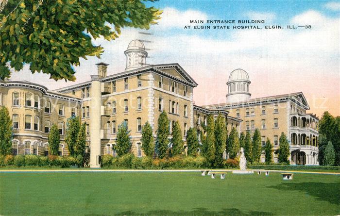Elgin_  Main Entrance Building at Elgin State Hospital