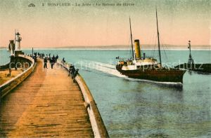 Honfleur La Jetee Le Bateau du Havre Honfleur