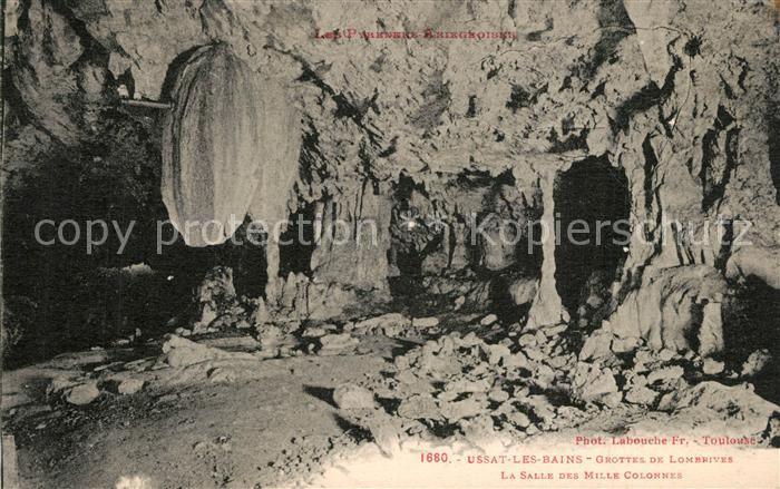 Ussat Grottes de Lombrives La Salle des Mille Colonnes Ussat
