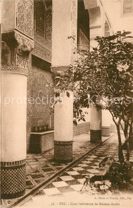 Fez_Fes Cour interieure de Maison Arabe Fez_Fes Nr. kq19296 ...
