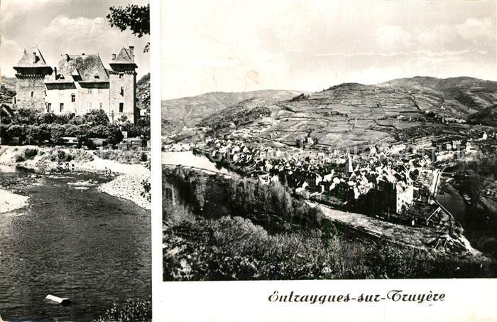 Entraygues sur Truyere Panorama Le Chateau La Centrale Electrique Entraygues sur Truyere