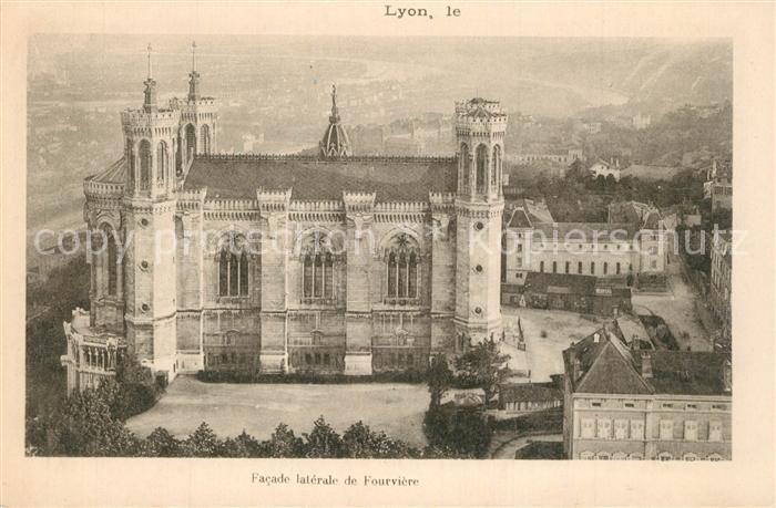 Lyon_France Basilique de Notre Dame de Fourviere Lyon France