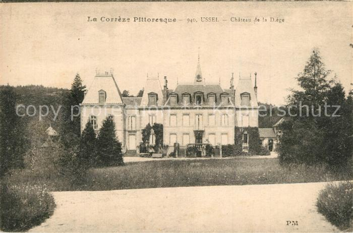 Ussel_Correze Chateau de la Diege Ussel Correze