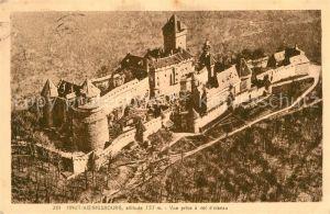Haut Koenigsbourg_Hohkoenigsburg Chateau vue prise a vol d oiseau Haut Koenigsbourg