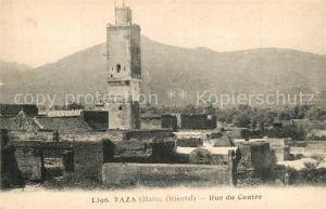 Taza_Maroc Rue du Centre Tour Taza_Maroc