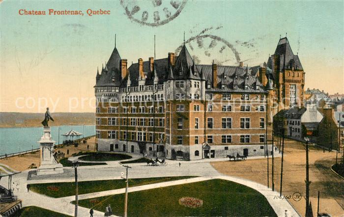 Quebec Chateau Frontenac Monument Quebec