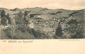 Appenzell_IR Landschaftspanorama Appenzell IR