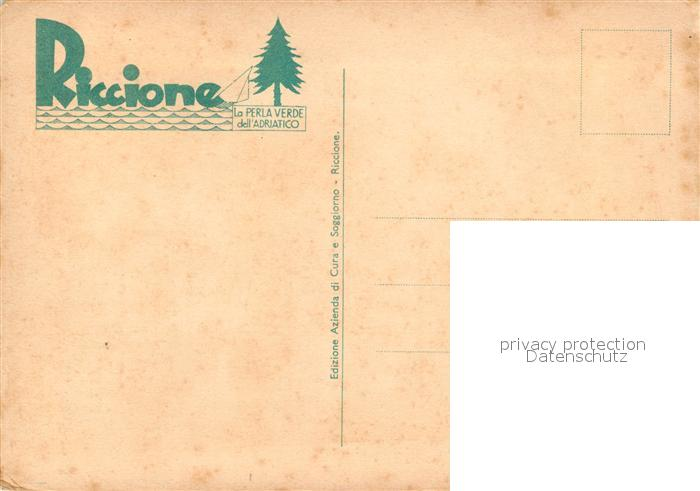 Riccione K?nstlerkarte Riccione