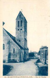 Saint Sauveur sur Ecole Rue de l`Eglise Saint Sauveur sur Ecole