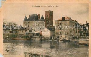 Nemours_Seine et Marne Chateau et le Loing Nemours Seine et Marne
