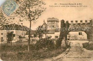 Crouy sur Ourcq Vieille Porte et ruines d`un Chateau Crouy sur Ourcq