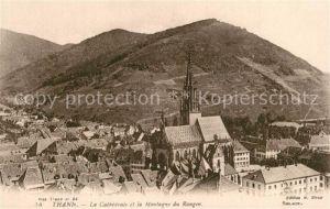 Thann_Haut_Rhin_Elsass La Cathedrale et la Montagne du Rangen Thann_Haut_Rhin_Elsass