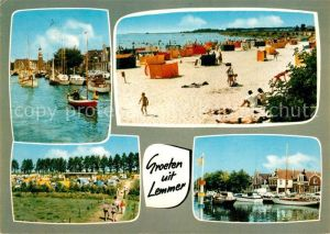 Lemmer Bootshafen Strand Campingplatz Lemmer