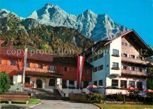 Ehrwald_Tirol Alpenhotel und Talstation der Tiroler Zugspitzbahn Ehrwald Tirol