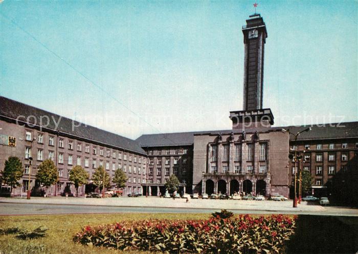 Ostrava Neues Rathaus auf dem Platz der Oktoberrevolution Ostrava