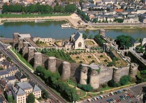 Angers Le chateau Vue aerienne Angers