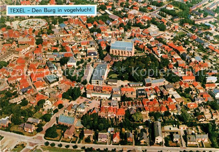 Texel Den Burg in vogelvlucht Texel
