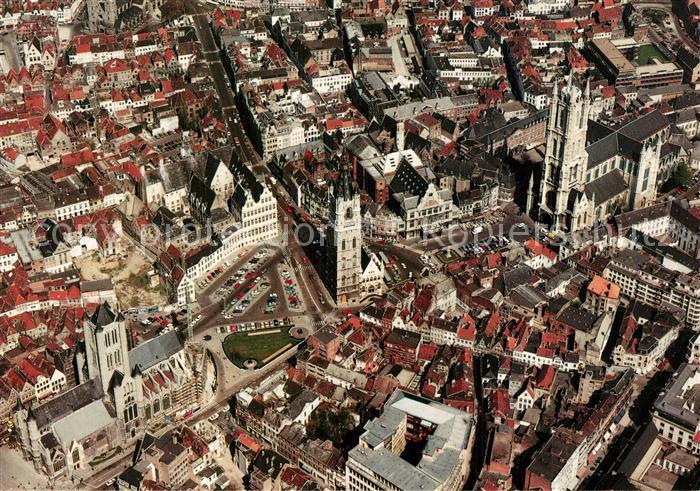 Gent_Gand_Flandre Fliegeraufnahme Gent_Gand_Flandre