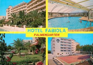 Portals_Nous Hotel Fabiola Palmengarten Hallenbad Tennisplatz