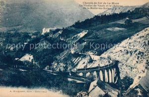 La_Mure Chemin de Fer Le Viaduc de Vaulx et le chateau de la Motte les Bains La_Mure