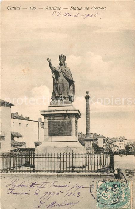 Aurillac Statue de Gerbert Aurillac
