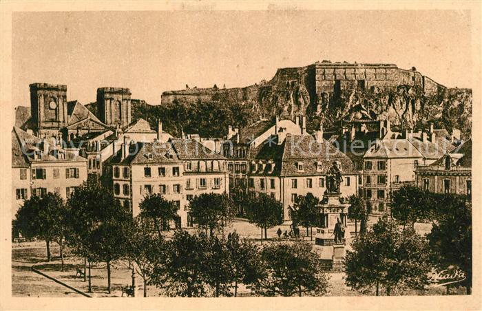 Belfort_Alsace Place de la Republique Monument Chateau et Lion Belfort Alsace