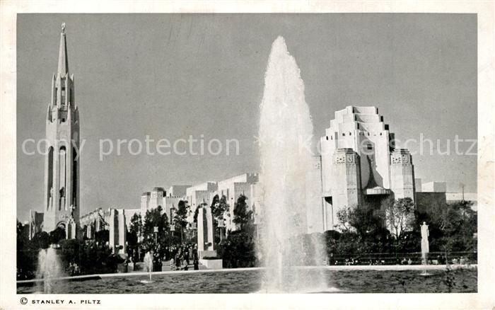 San_Francisco_California Fountains Gardens South Tower of Court of the Moon Tower of the Sun Califoria World s Fair