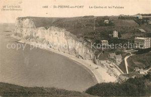 Saint Pierre en Port Le Casino et les Falaises Saint Pierre en Port