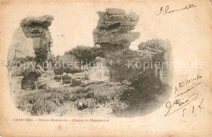 Cherchell Ruines Romaines Champ Manoeuvres Cherchell