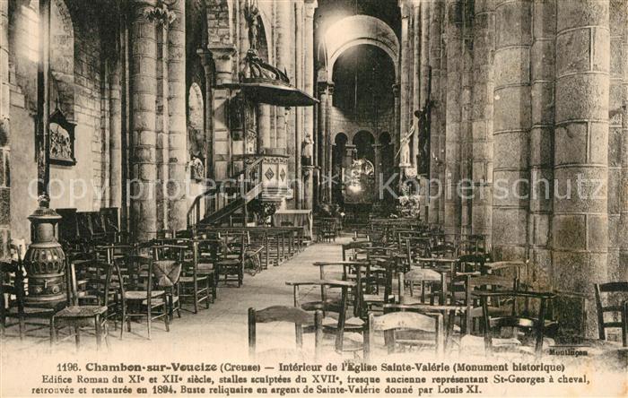 Chambon sur Voueize Interieur de l'Eglise Sainte Valerie Chambon sur Voueize