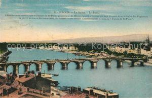 Macon_Saone et Loire Pont sur la Saone Macon Saone et Loire