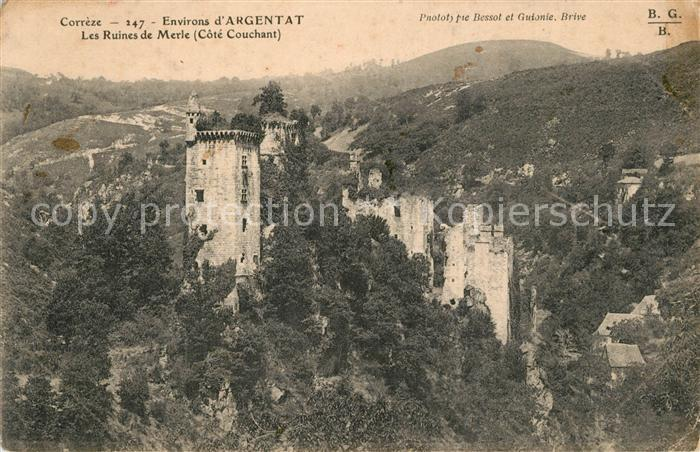 Argentat Les Ruines de Merle Argentat