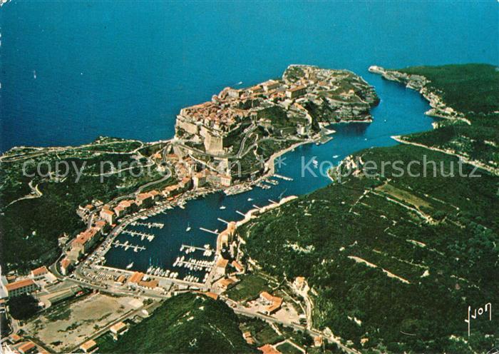 Bonifacio_Corse_du_Sud Port de Plaisance et le Goulet vue aerienne Bonifacio_Corse_du_Sud