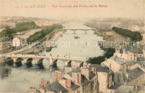 Angers Vue generale des Ponts sur la Maine Angers