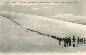 Dauphine Traversee du Glacier du Mont de Lans par un bataillon de Chasseurs Alpins Dauphine
