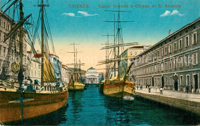 Trieste Canal Grande Chiesa S. Antonio Trieste