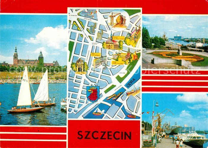 Szczecin_Stettin Hafen Schiffe Denkmal Stadtplan Zentrum Oder Szczecin_Stettin