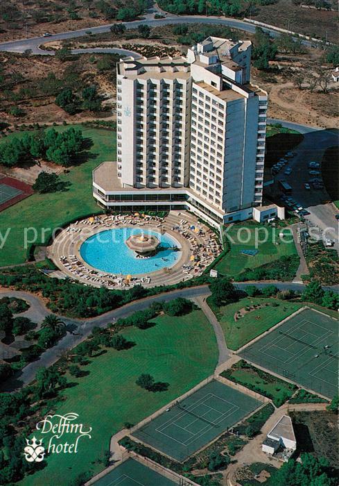 Portimao Delfim Hotel Fliegeraufnahme Portimao