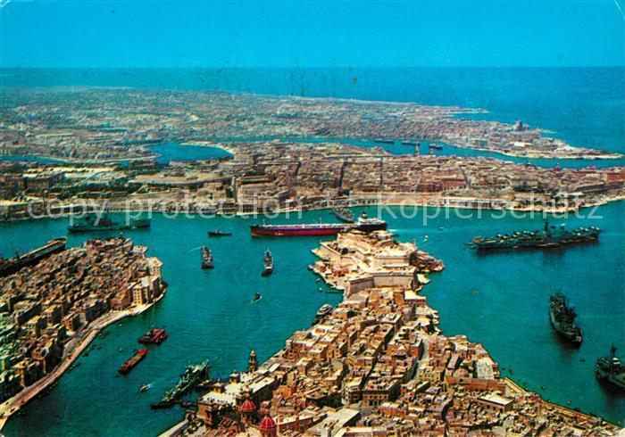 Malta Grosser Hafen Fliegeraufnahme Malta