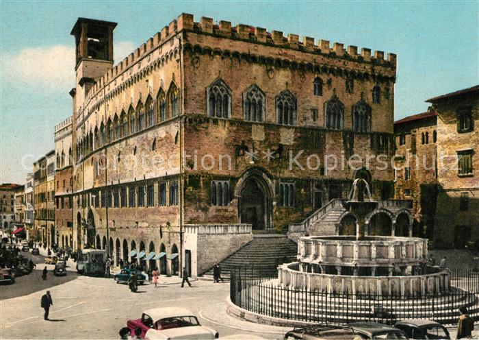 Perugia Palazzo Comunale e Fontana Maggiore Perugia