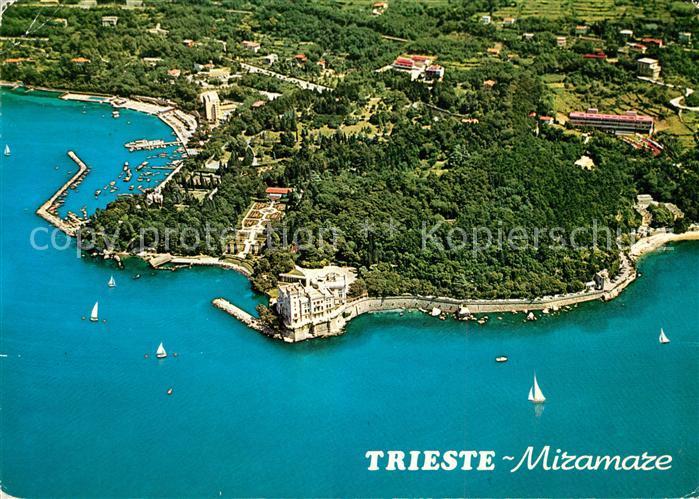 Trieste Castello di Miramare veduta aerea Trieste