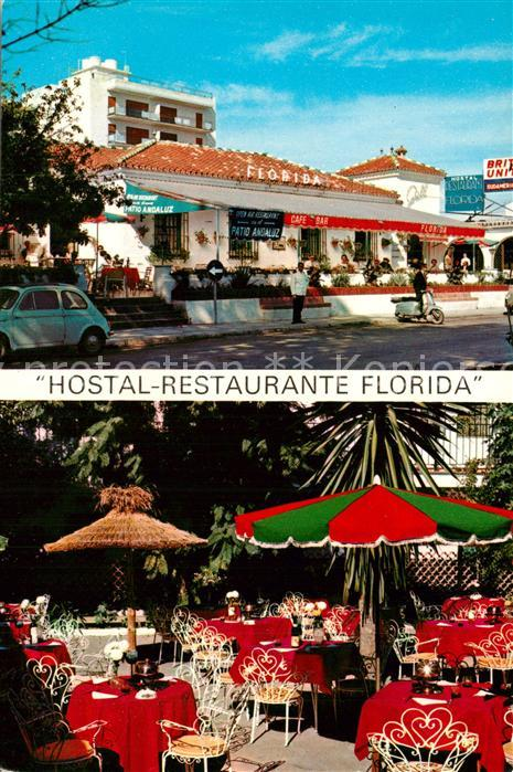 Torremolinos Hostal Restaurante Florida Gartenterrasse Torremolinos