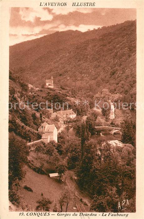 Conques_Aveyron Gorges du Dourdou Le Faubourg Conques Aveyron
