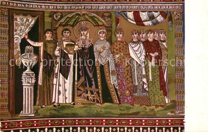 Ravenna_Italia Teodora e Dame di Corte Mosaico S. Vitale  Ravenna Italia