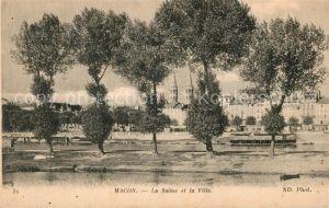Macon_Saone et Loire La Saone et la Ville Macon Saone et Loire