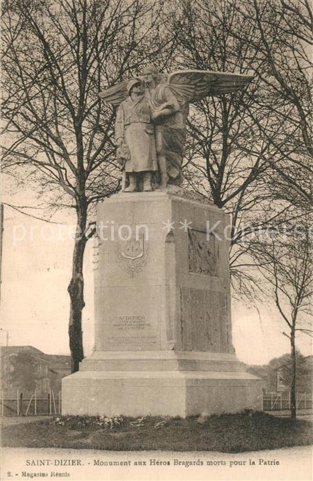 Saint Dizier_Haute Marne Monument aux Heros Bragards morts pour la Patrie Saint Dizier Haute Marne