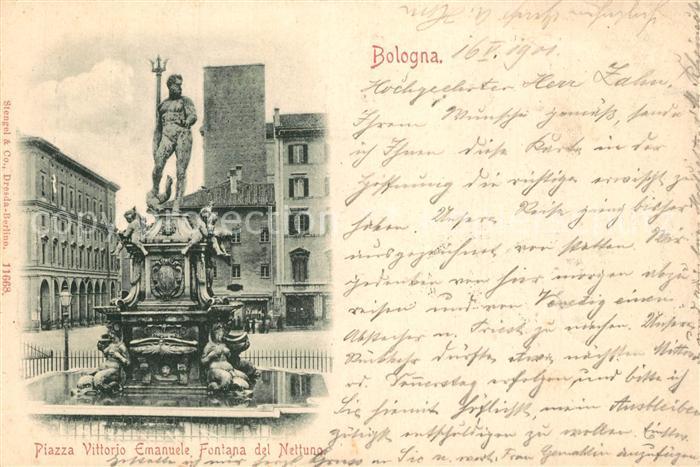 Bologna Piazza Vittorio Emanuele Fontana del Nettuno Bologna