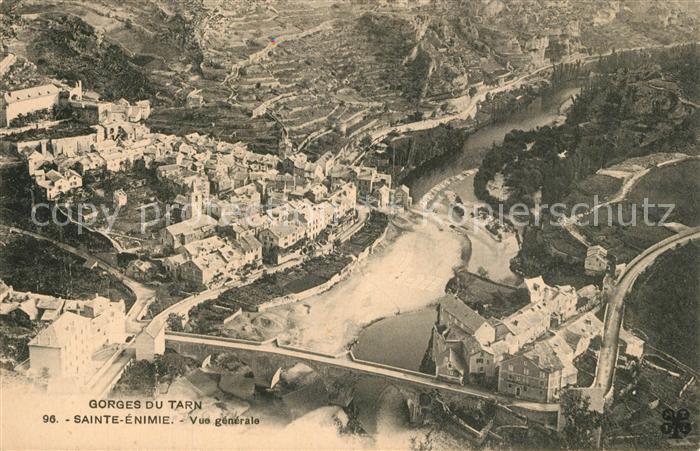 Sainte Enimie Gorges du Tarn vue aerienne Sainte Enimie